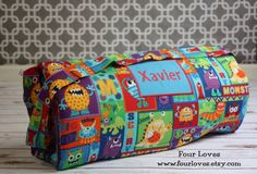 Napmat with Attached Pillowcase and Minky Blanket by FourLoves