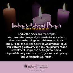 Third Sunday of Advent reflection: When we live simply, we can simply live http://on.fb.me/1Y97FaB  #AdventTO #Advent #christmas #prayer
