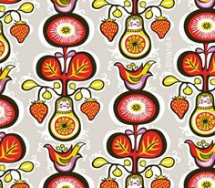 Russian folk patterns
