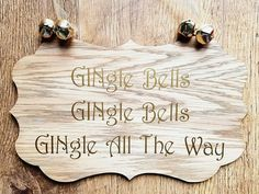 GINgle Bells Plaque, GINgle Bells, Jingle Bells, Jingle Bells Plaque, GINgle Bells Sign, Gin Sign, Christmas Sign, Xmas Sign, Gin Lover, by FioreCrafts on Etsy Gin Lovers, All The Way, Christmas Signs, Jingle Bells, Bamboo Cutting Board, Xmas, Unique Jewelry, Handmade Gifts, Crafts