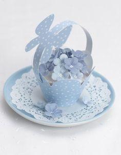 Blue Blossom Cupcake
