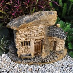 Miniature Fairy Garden Tiny Terrarium Stone House