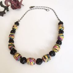 Hey, I found this really awesome Etsy listing at https://www.etsy.com/listing/484531111/colorful-beaded-necklace-large-chunky