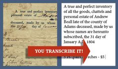 Transcribe documents on the Briscoe Center for American History