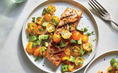 Grilled Salmon with Avocado Salsa from the Cooking Light Diet