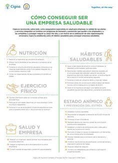 Infografía: 25 consejos de Cigna para mejorar la salud en el trabajo - Contenido seleccionado con la ayuda de http://r4s.to/r4s