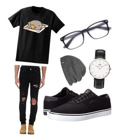 """""""Untitled #6"""" by nathalie-egeberg on Polyvore featuring Pusheen, AMIRI, Lakai, Daniel Wellington, Outdoor Research, men's fashion and menswear"""