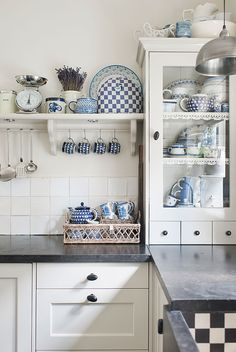 Cottage Style Blue and White Kitchen