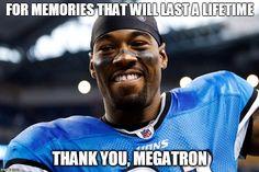 Calvin Johnson Megatron Retirement Detroit Lions
