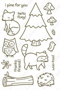 Critters In The Forest - Clear Stamps