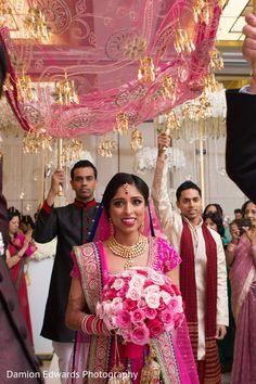 The Indian ceremony takes place! Bride Entry, Wedding Entrance, Diy Fashion Hacks, Wedding Photos, Wedding Ideas, Wedding Bells, Indian Fashion, Wedding Planning, Wedding Invitations