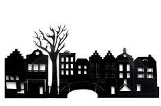 Huisjes - silhouet voor sinterklaas