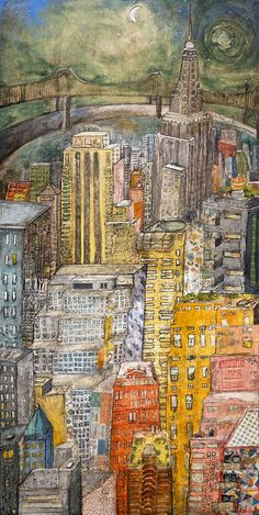 Radiant Manhattan Limited Edition Print by cathynichols on Etsy, $55.00 #nycs