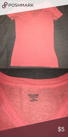 V-Neck EUC Mossimo v-neck in a coral color. Size XS Mossimo Supply Co Tops Tees - Short Sleeve
