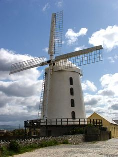 Blennerville Windmill in County Kerry, Ireland. Featured in the Guinness Book of Records as the largest working windmill in Ireland.