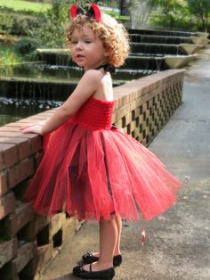 Devil TuTu Dress Costume with headband and devil tail. Lined tutu dress Sewn Red by CassidyChristy on Etsy https://www.etsy.com/listing/158698050/devil-tutu-dress-costume-with-headband