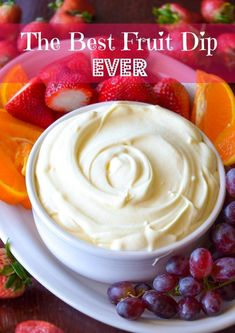The Best Fruit Dip Ever is just three simple ingredients that result in a super creamy, perfectly sweet fruit dip. It really is the best ever!    How can such an incredibly simple recipe be so fantastically