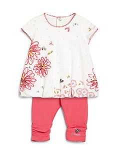 169c5a145d9c Catimini - Infant s Two-Piece Floral Top  amp  Leggings Set Tops For  Leggings