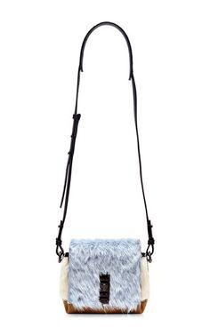 Polar blue fur mini elliot handbag by PROENZA SCHOULER Now Available on Moda Operandi
