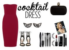 """""""Red dress Victoria Beckham"""" by demy19-l on Polyvore featuring Victoria Beckham, ALDO, Alexander McQueen, Lancôme, Illamasqua, Sephora Collection, MAC Cosmetics, Chanel, Christian Dior and Christopher Walling"""
