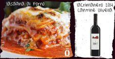Abbinamento Lacryma Christi Cantine Olivella e lasagna, wine pairing