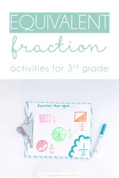 Want some fun ways to teach equivalent fractions to your class? Here are some fun activities.and snag an activity freebie too! 3rd Grade Fractions, Teaching Fractions, Equivalent Fractions, 3rd Grade Math, Teaching Math, Comparing Fractions, Dividing Fractions, Multiplying Fractions, Multiplication