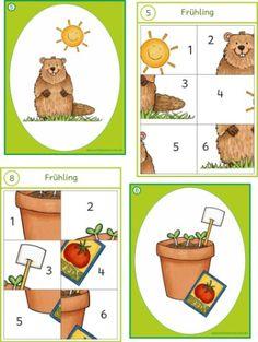Kopfpuzzle für Raumorientierung Lessons For Kids, Math Lessons, Groundhog Day, Cute Pins, Fun Math, Childhood Education, Pre School, Toddler Activities, Homeschool