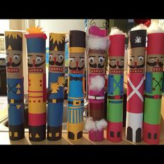 Paper towel tube Nutcrackers!  This is a great idea, especially for teachers who can let their kids get all creative.