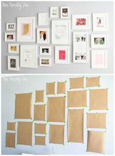 Best way to hang photos on the wall. This and more Gallery Wall Ideas and Inspiration for PIcture Frame Displays. Family picture frame ideas and ornament for displaying your home portraits. Picture Frame Display, Frame Wall Collage, Family Picture Frames, Gallery Wall Frames, Picture Wall, Frames On Wall, Photo Wall, Picture Ideas, Gallary Wall