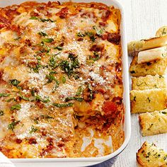 Classic Lasagna | more healthy casseroles to make: http://www.bhg.com/recipes/healthy/dinner/heart-healthy-comfort-food-dinners/#page=16 #myplate