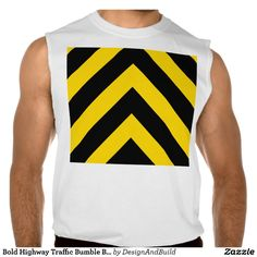 Bold Highway Traffic Bumble Bee Chevrons Sleeveless T-shirt Tank Tops