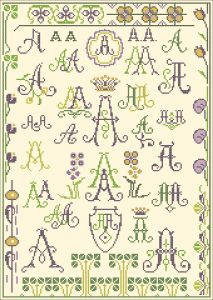 A - Cross stitch sampler from 'De gracieuse'.