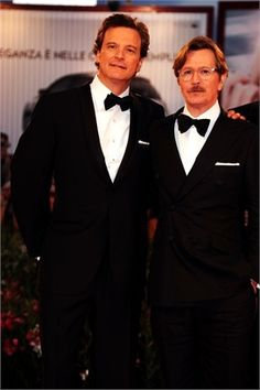 Colin Firth and Gary Oldman in tuxes. Love these two!
