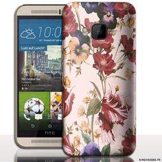 Coque Mobile HTC one M9 Fleurs - Housse rigide smartphone. #coque #htc #M9 #fleurs #case #phone