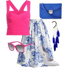 summer outfit by maliseb on Polyvore featuring polyvore fashion style Chicwish Casadei Express Anni Jürgenson Dolce&Gabbana