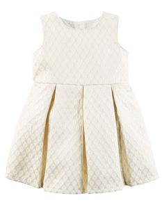 Baby Girl Metallic Jacquard Floral Dress | Carters.com
