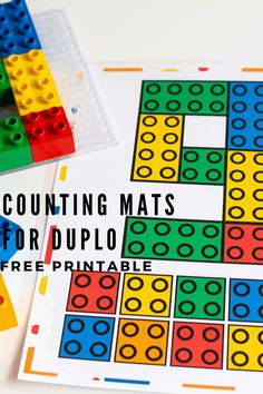 Fun free printable LEGO DUPLO Number Mats for toddlers and preschoolers. Kids can use DUPLO blocks and these counting mats to practice number recognition and one to one correspondence! Free Printable Chore Charts, Free Printable Numbers, Free Printables, Preschool Printables, Preschool Math, Kindergarten, Preschool Themes, Preschool Worksheets, Free Picture Puzzles