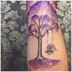 Full Arm Tattoos, Tattoos For Women Half Sleeve, Back Tattoo Women, Time Tattoos, New Tattoos, Tatoos, Javi Wolf, Swing Tattoo, Tree Tattoo Designs