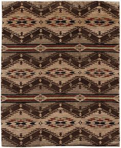 Spirit of the People is a celebration of family. The six stripes represent generations over time, including the generation that will lead us on. Arrowheads denote strength and good fortune. Background in tones of sand, heathered grey and soft brown....
