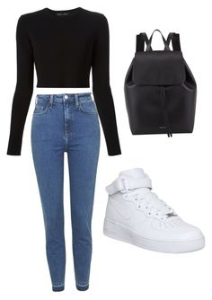 """""""Untitled #61"""" by daisychains7 ❤ liked on Polyvore featuring Proenza Schouler, NIKE, Mansur Gavriel and Topshop"""