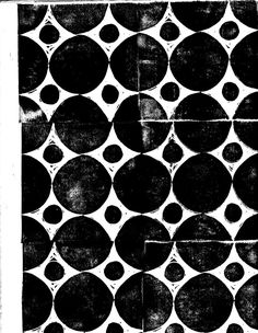 Scanned block print by Joan McGuire. black and white Surface Pattern, Pattern Art, Surface Design, Pattern Design, Circle Pattern, Graphic Patterns, Color Patterns, Print Patterns, Graphic Design