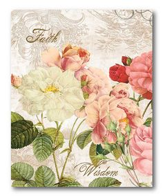 Shabby Chic Roses III Canvas Wall Art by COURTSIDE MARKET on zulily
