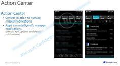 Novas imagens revelam centro de notificações do Windows Phone 8.1
