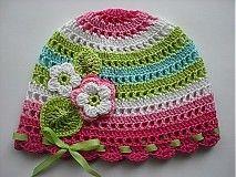 Detské čiapky - Farebná čiapočka - 1117834