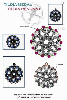 Ewa gyöngyös világa!: Tildia medál minta / Tildia pendant pattern