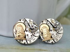steampunk cufflinks JOURNEY Till END Of TIME vintage by junesnight