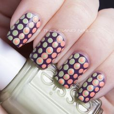 Gorgeous spotty #nails Instagram photo by  athousandnails