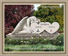 A Beautiful Headstone Design with Fishing Scene for a