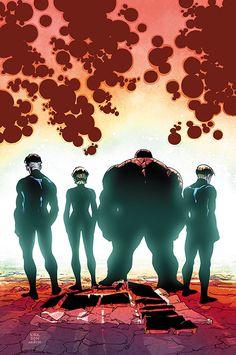 """Los 4 Fantásticos v7, 93El fin de una era! A tiempo para """"Secret Wars"""", termina la actual etapa de La Primera Familia. ¿Conseguirán nuestros héroes vencer al hombre tranquilo y a las fuerzas corruptas del Universo de Bolsillo? ¿Recuperará Johnny sus poderes? ¿Es éste el fin de Los Cuatro Fantásticos?"""