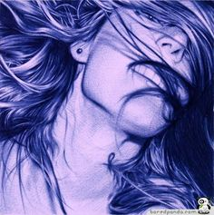 Drawn with a Bic ballpoint pen using up to 14 pens per drawing. Artist Juan Francisco Casas.